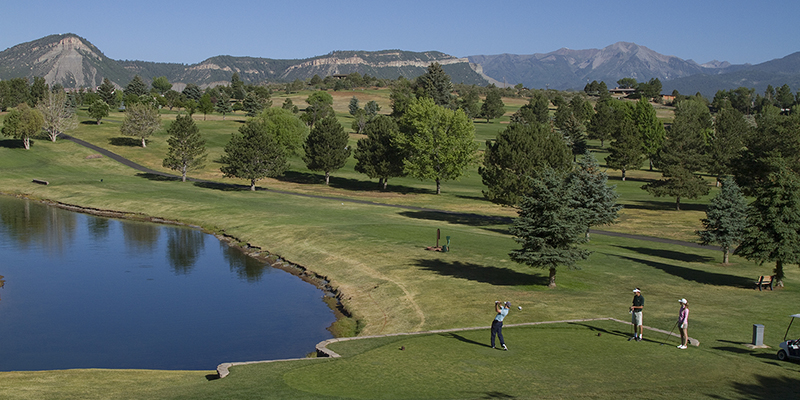 Picture of people playing golf at Durango Golf Course